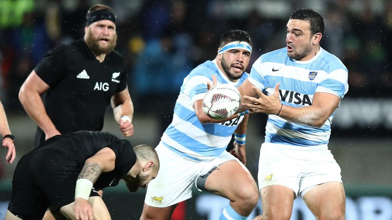 Argentina captain Agustin Creevy leads a powerful pack