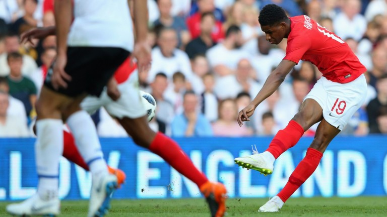 Marcus Rashford scored England's opener in the 2-0 win over Costa Rica