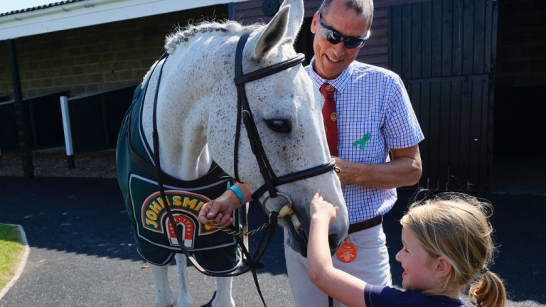 Still the centre of attention: that's 2012 Grand National winner Neptune Collonges