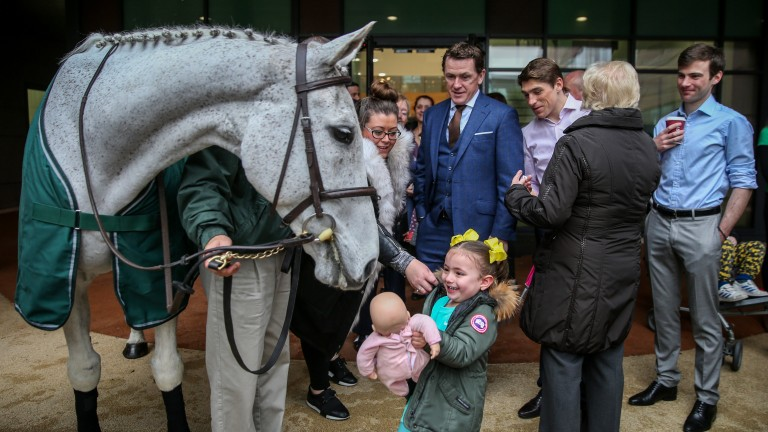 Neptune Collonges making the day for one of his fans at the Alder Hey Children's Hospital back in April