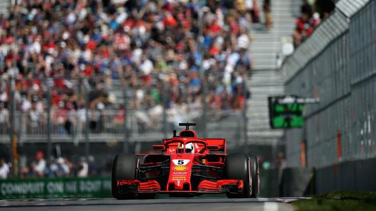 Sebastian Vettel is driving an upgraded Ferrari this weekend