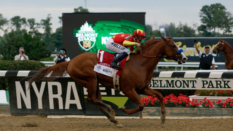 Justify lands the 150th running of the Belmont Stakes to become the 13th Triple Crown winner