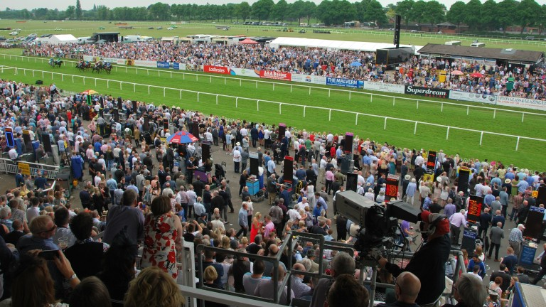 Worcester: some racegoers have complained the track was too crowded at their most recent meeting