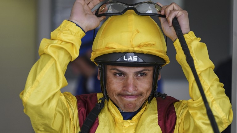 Raul da Silva: received 21-day ban for striking fellow jockey Jim Crowley