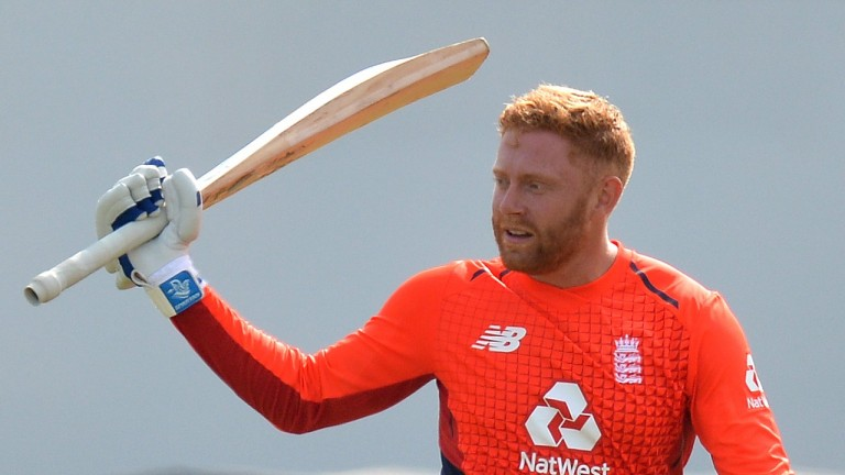 England opener Jonny Bairstow blasted 105 in a losing cause on Sunday
