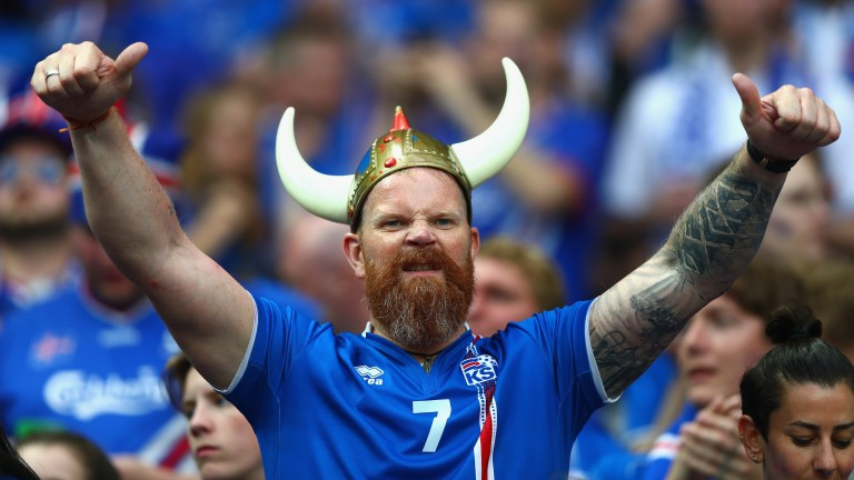 An Icelandic football fan