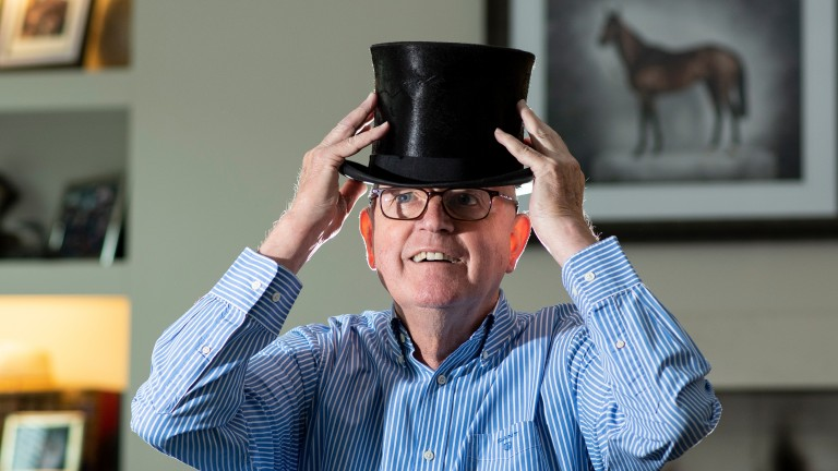 Mick Channon: trainer of Riverwing