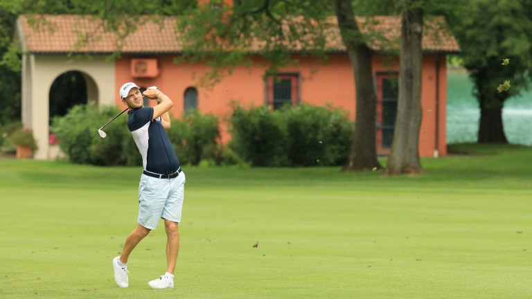 Martin Kaymer of Germany in action at the Italian Open