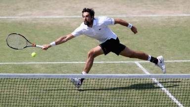 Jeremy Chardy in action at Surbiton