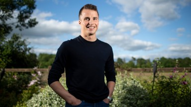 Derby winning jockey William Buick at his home outside Newmarket 12.6.18 Pic: Edward Whitaker