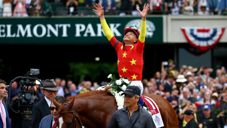 Justify: won the US Triple Crown in the colours of the China Horse Club who have invested in Alizeti
