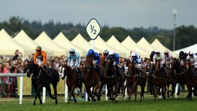 Runners and riders in the Queen Alexandra Stakes on day five of Royal Ascot