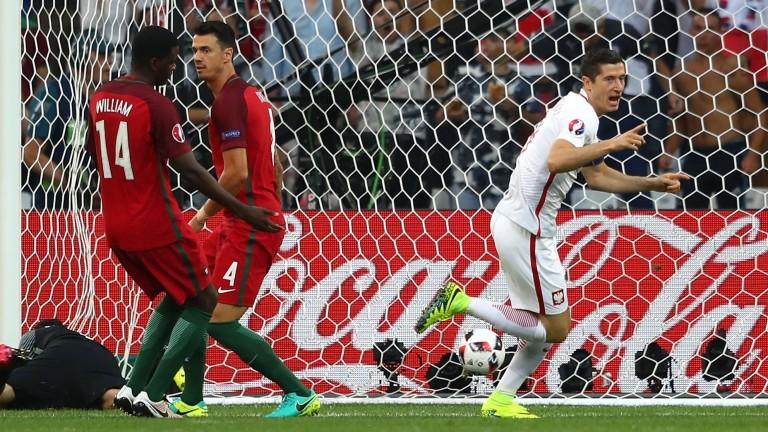 Star striker Robert Lewandowski is in the Poland squad in Guimaraes