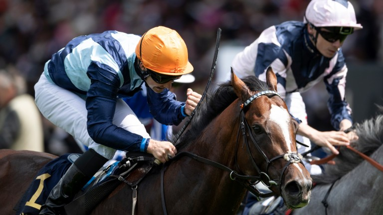 Accidental Agent and Charlie Bishop win the Queen Anne Stakes at Royal Ascot