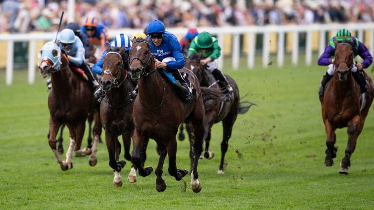 Blue Point wins the 2018 King's Stand Stakes