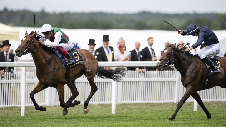 Without Parole and Frankie Dettori win the St James's Palace Stakes