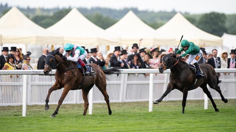 Monarchs Glen draws clear of Euginio in the Wolferton Stakes