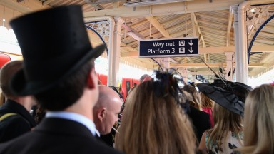 These Ascot racegoers in 2014 had it easy compared to some on Tuesday night, when network mayhem and a Rolling Stones concert combined to ensure there was little or no satisfaction