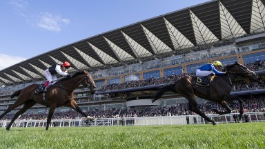 Poet's Word (James Doyle) beats Cracksman (Frankie Dettori) in the Prince Of Wales's Stakes Ascot 20.6.18 Pic: Edward Whitaker