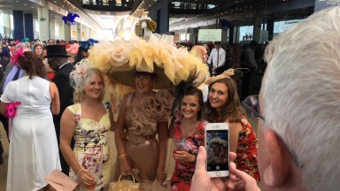 Artist Debra Day enjoyed being stopped by racegoers impressed with her remarkable millinery