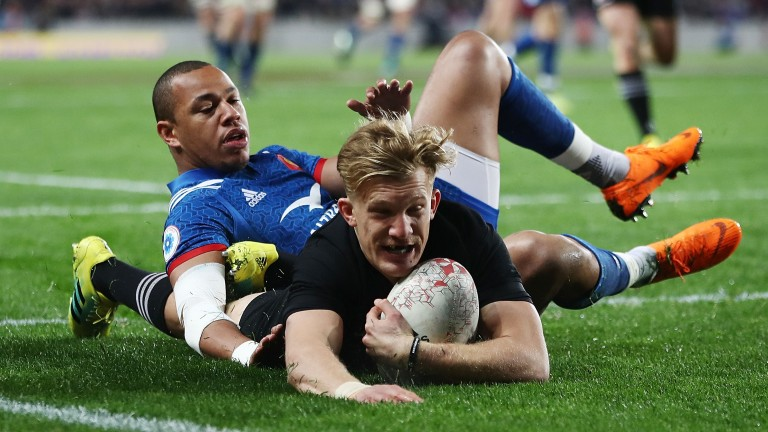 Damian McKenzie makes his first start at fly-half for the All Blacks