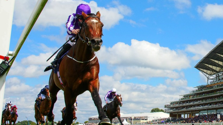 Kew Gardens and Ryan Moore stretch away from the field to score in the Queen's Vase