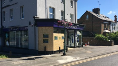 Nataliya Couture: a carriage crashed into the shop on Ascot High Street