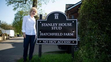 Rachael Hood outside Hatchfield FarmNewmarket Pic: Edward Whitaker