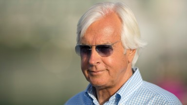 Bob Baffert at Meydan racecourse on TuesdayDubai 27.3.18 Pic: Edward Whitaker