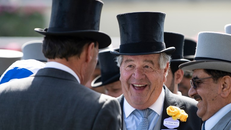 Sir Michael Stoute after Eqtidaar had won the Commonwealth CupRoyal Ascot 22.6.18 Pic: Edward Whitaker