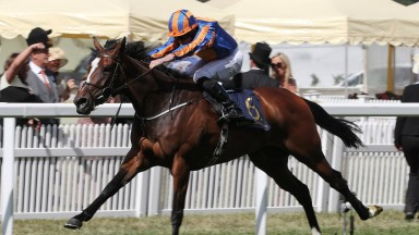 Magic Wand brings up a double on the day for Ryan Moore and Aidan O'Brien, in the Ribblesdale after Hunting Horn's win in the Hampton Court Stakes