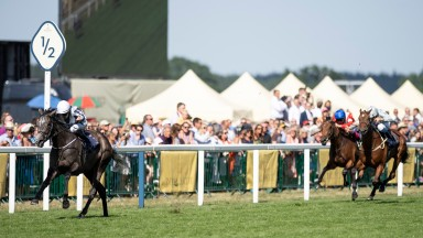 Alpha Centauri streaks clear for a stunning six-length success in the Coronation Stakes