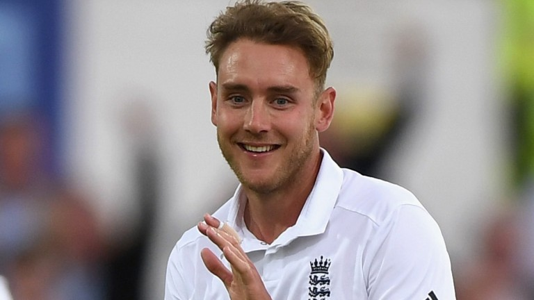 Stuart Broad: celebrations for the England bowler and racehorse owner