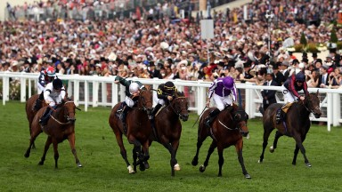 ASCOT, ENGLAND - JUNE 23:  Ryan Moore riding Merchant Navy wins The Diamond Jubilee Stakes on day 5 of Royal Ascot at Ascot Racecourse on June 23, 2018 in Ascot, England.  (Photo by Bryn Lennon/Getty Images)