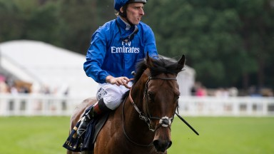 Adam Kirby and Harry Angel after the Diamond Jubilee StakesAscot 23.6.18 Pic: Edward Whitaker
