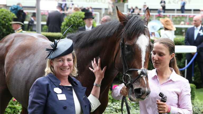 Accidental Agent's Queen Anne victory was emotional for trainer Eve Johnson Houghton (left) and her family