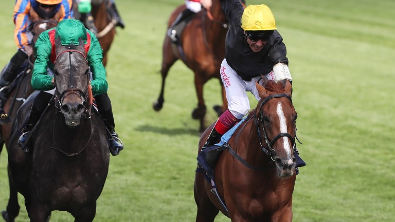Stradivarius and Frankie Dettori won the Gold Cup at Royal Ascot