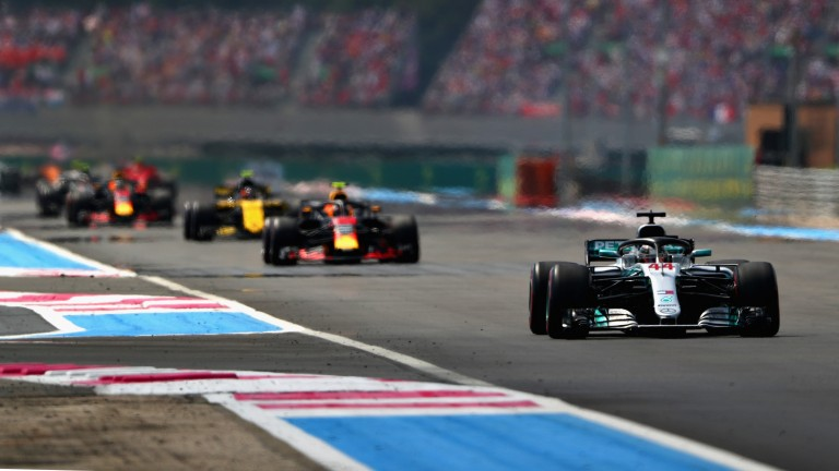 Lewis Hamilton was left in the clear after an early collision