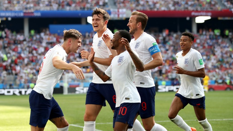 England celebrate during the World Cup