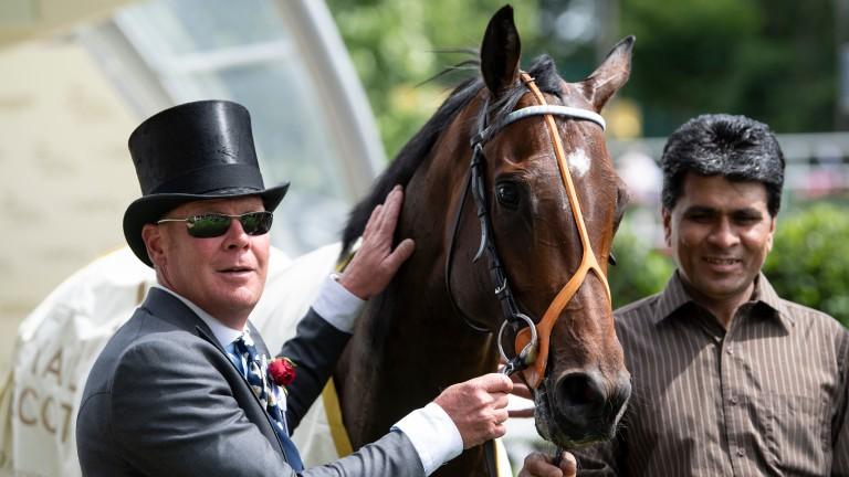 Arthur Kitt following his Royal Ascot win