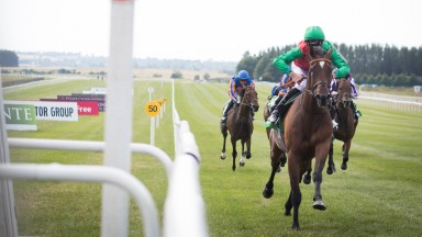 Urban Fox lands the Juddmonte Pretty Polly Stakes at the Curragh