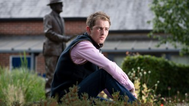 Brian Toomey takes time to reflect in the grounds of Oaksey House in Lambourn