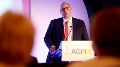 BHA chief executive Nick Rust addresses the 2018 ROA annual meeting
