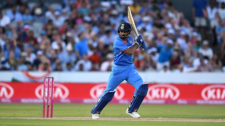 Lokesh Rahul of India bats during the 1st Vitality International T20 match