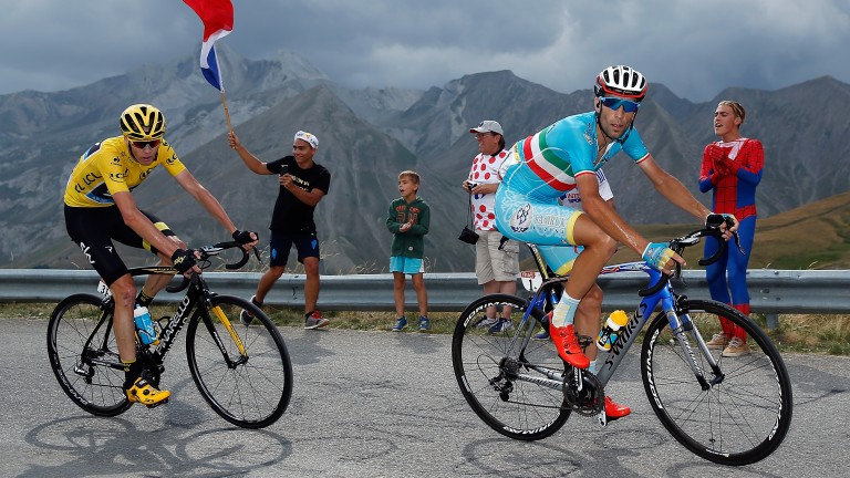 Vincenzo Nibali (right) could be Chris Froome's biggest danger