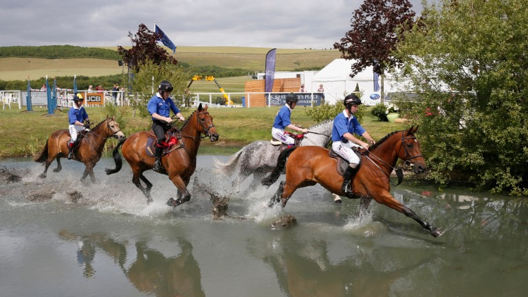 Water may be splashed in the JCB Champions Challenge