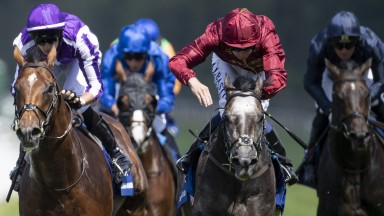 The Lion roars: the grey Roaring Lion edges out Saxon Warrior in a thrilling finish in the Coral-Eclipse