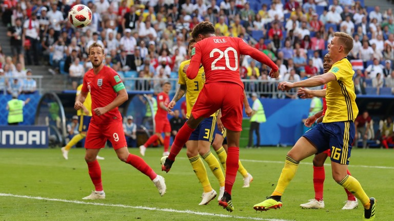 Dele Alli heads England into the World Cup semi finals in Russia on the same day that Sandown and Haydock staged high-profile cards