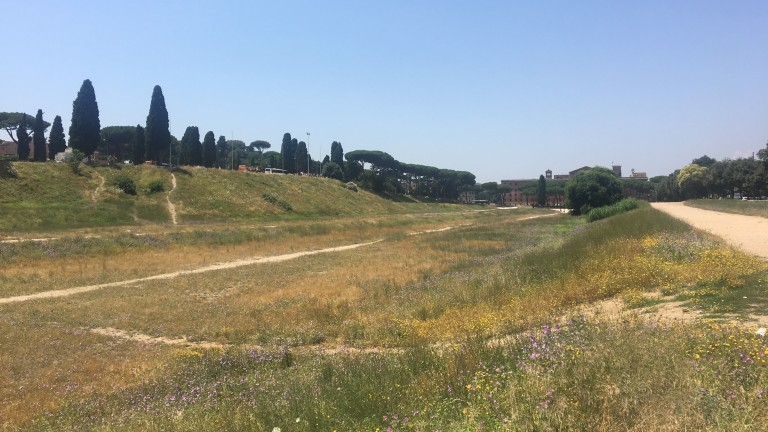 In its heyday the Circus Maximus played host to 250,000 roaring spectators