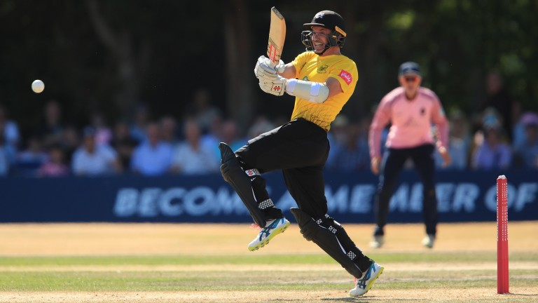 Michael Klinger plays a pull shot in Gloucestershire's win over Middlesex